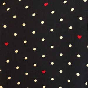 Dalia Tops - Dalia chiffon heart polka dot blouse